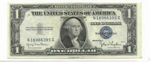 1935D $1 Silver Certificate - Scarce NG Block, Normal Width - V. Ch AU