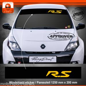 Sticker Renault Sport Clio 3 RS  aufkleber adesivi paresoleil decal 402J