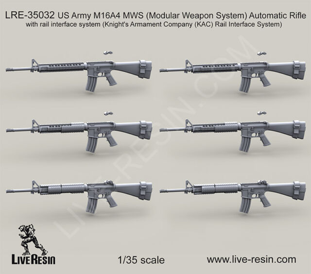 Live Resin 1 35 Lre 35032 Us Army M16a4 Modular Weapon System