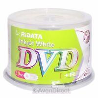 200 Ridata 16x White Inkjet Printable Dvd+r Plus R [free Priority Mail]