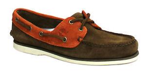 Hombre Zapatos Marrón Ante Ojos Naranja D43 Náuticos 42575 Timberland Clásico 2 qZxwCwtg