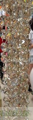 Top Quality Crystal Glass Champagne Beads Chain Wedding Decoration Curtains 1M