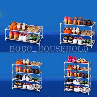 7 Tier Metal Shoe Rack Storage Organizer Fabric Shelf Holder Stackable Closet