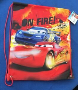 Kids-Boys-Children-039-s-Disney-Cars-Sports-Pull-String-Swim-PE-Gym-Gift-Bag