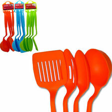 "4PC Nylon Slotted Spatula Turner Spoons Utensils Set Kitchenware 11"" Long BNK-39"