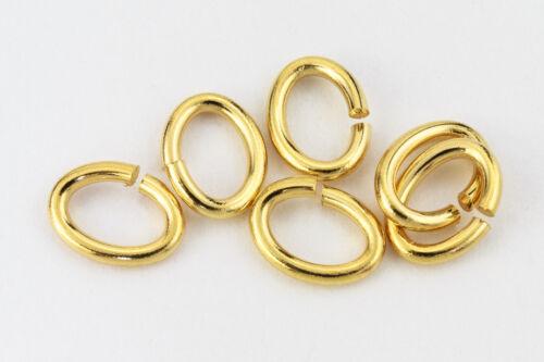 3mm x 4mm Gold Tierracast Oval Jump Ring 20g 500 Pcs #RJA049