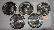 1958 Chevy Impala 14 inch Hubcaps Set of 5  OEM