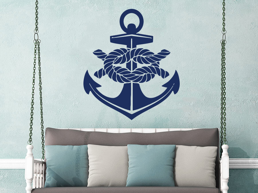 Wall Decal Anchor Nautical Vinyl Sticker Decals Bathroom Sea Decor Nursery NS637