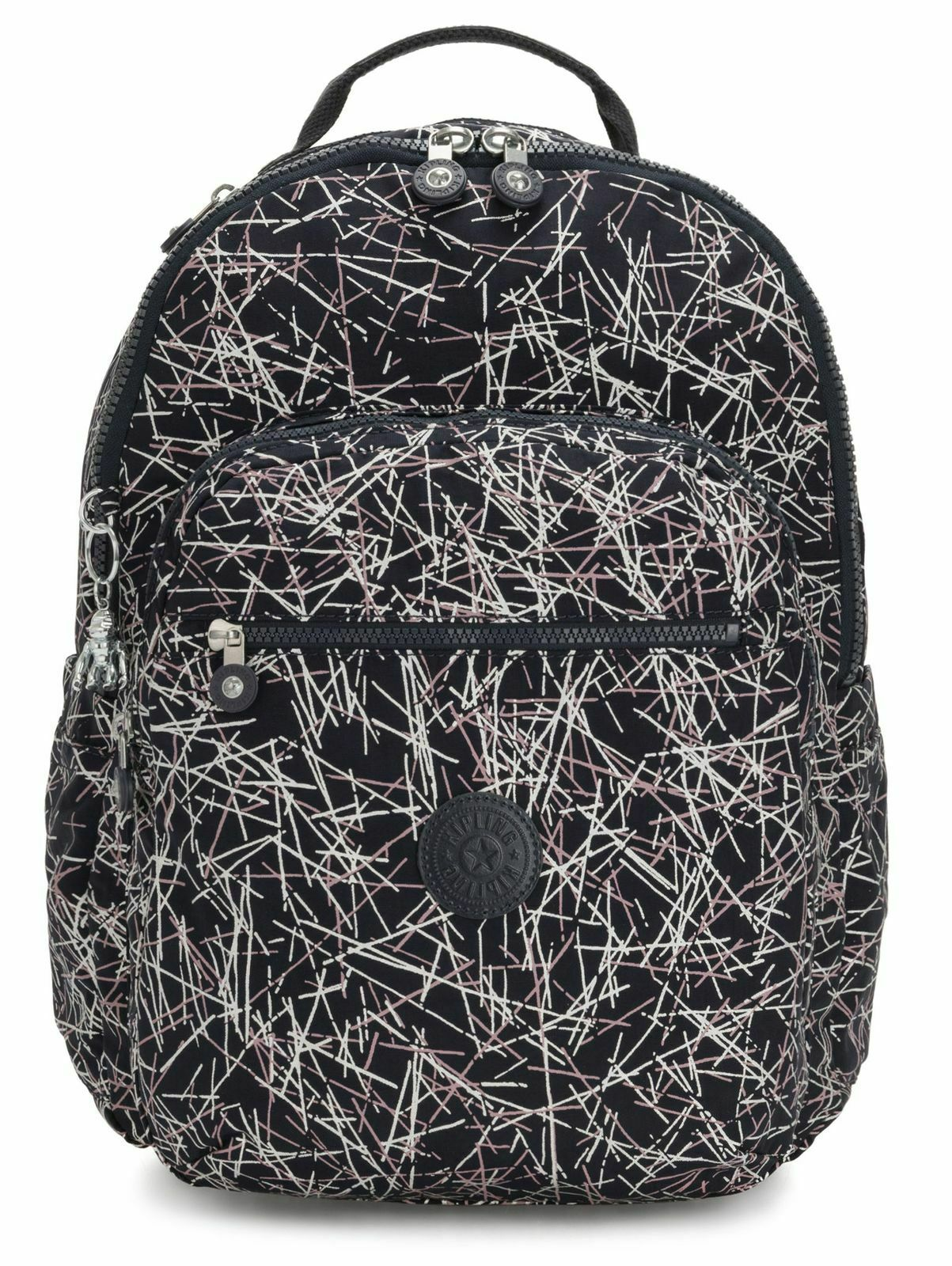 Kipling Seoul Backpack Navy Stick Print