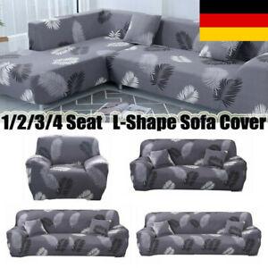 1-4 Sitzer Sofahusse Sofabezug Sofabezüge Universal Stretchhussen Sesselbezug DE