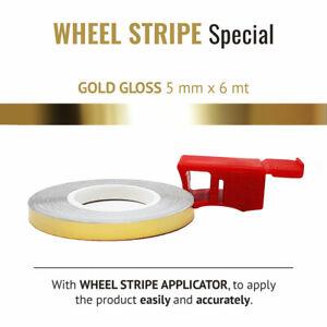 Wheel Stripes per Cerchi Moto Race Oro 5 mm x 6 mt con Applicatore