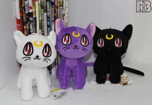 Sailor Moon Cartoon Luna Cat Plush Soft Stuffed Pillow Cushion Toy Doll Gifts