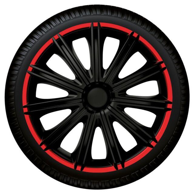 """Radzierblende """"Nero R"""" aus schlagfestem ABS-Kunststoff 4 Stk. Radkappen 16"""" Zoll"""