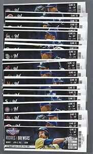 2015 MLB MILW BREWERS BASEBALL ALMOST COMPLETE SEASON FULL TICKETS 80/81 GAMES