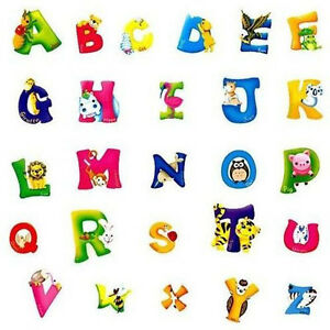 DIY-A-Z-Alphabet-Animals-Wall-Sticker-Vinyl-Decals-Kids-Bedroom-Decor-Art-Mural