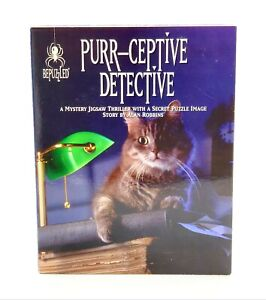 Purr-Ceptive-Detective-1000-PC-Jigsaw-Puzzle-Mystery-1994-Difficult-Cats-Secret