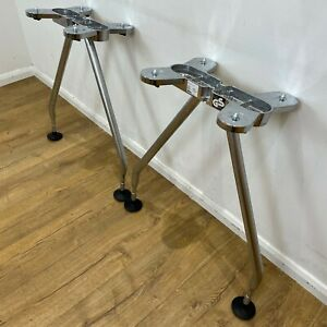 Replacement Vitra Eames Chrome Lock Table Legs Genuine 730mm Height PAIRS