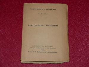 JULIEN-BENDA-MON-PREMIER-TESTAMENT-EO-1910-Cahiers-Quinzaine-Peguy-1-13-WHATMAN