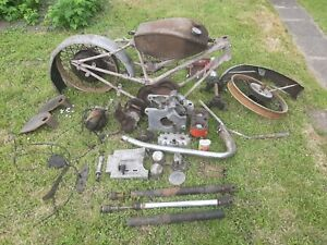 Scott Squirrel Vintage Motorcycle barn find restoration project 1948 Dowty forks