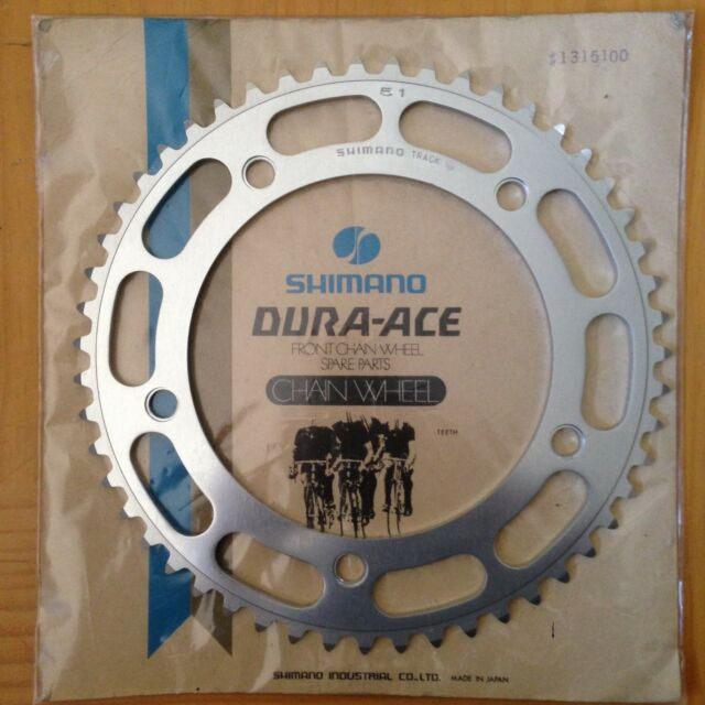 """Shimano 1st Gen DURA-ACE 51T TRACK Chainring 1//8/"""" 151BCD NJS Fit Campagnolo NOS"""