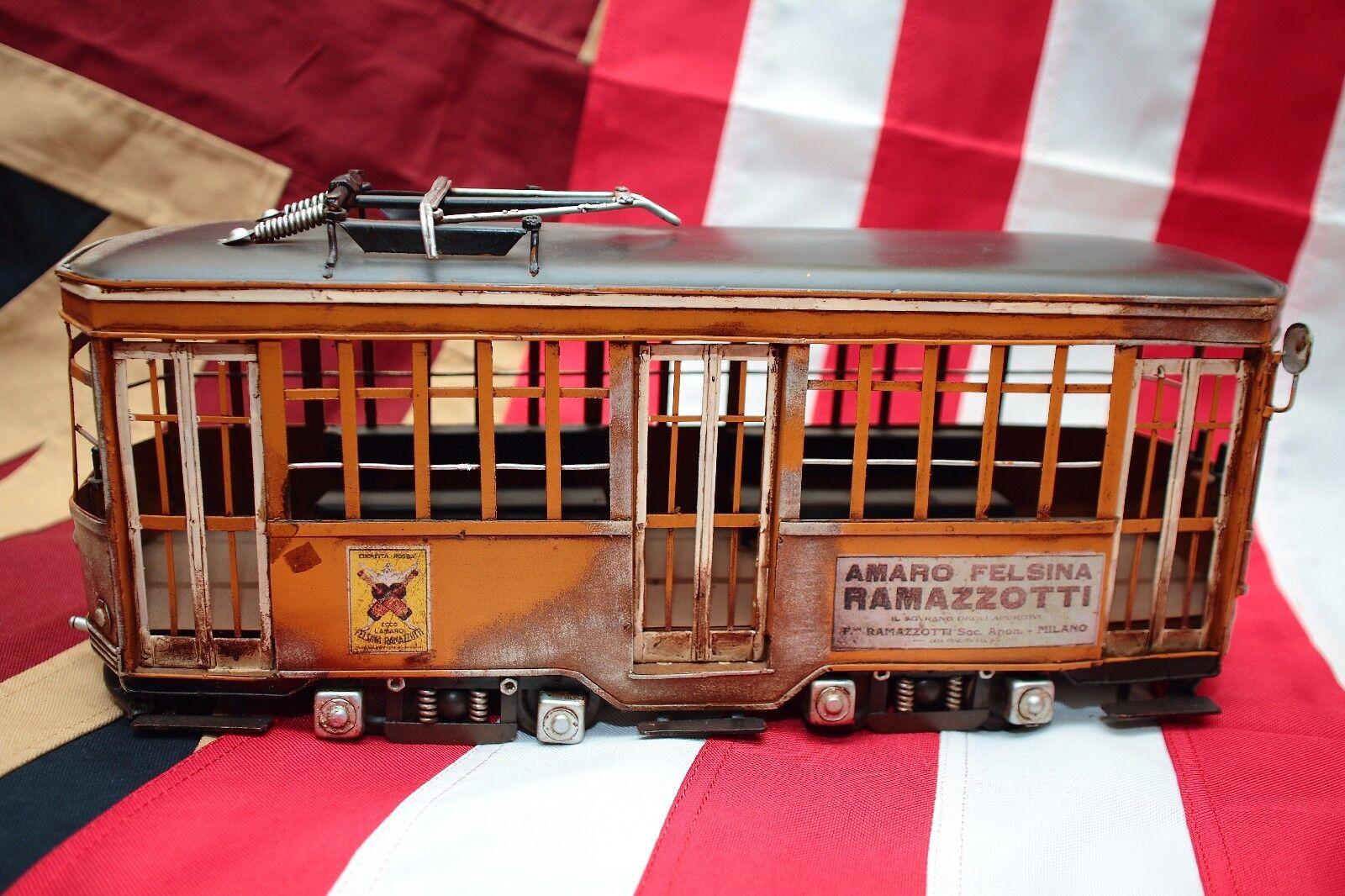 MILANO SAN FRANCISCO TRAM CAR tin tinplate blechmodell handmade vintage