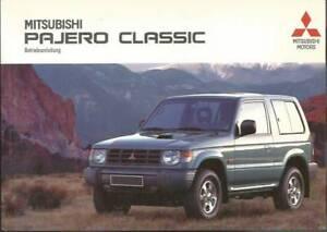 MITSUBISHI-PAJERO-CLASSIC-Betriebsanleitung-2000-Bedienungsanleitung-Handbuch-BA