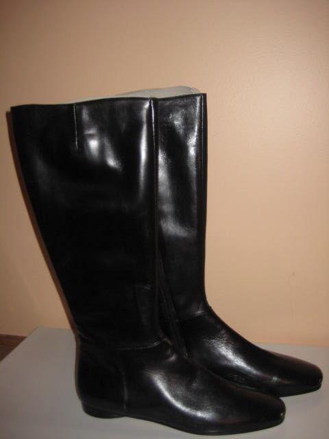 Brand new, Isaac stivali, nero leather, full zipper, sz. 8.5 Made In