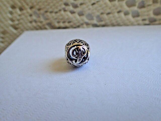 New  Authentic Pandora Charm Letter Vintage  U0026quot P U0026quot  791860cz