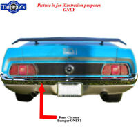 In Stock 71-72 Mustang Chrome Rear Bumper Brand Tooling Limited Qty