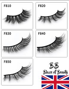 NEW-5-Pairs-Layered-False-Eyelashes-Dramatic-3D-Wispy-Lashes-Makeup-Strip-UK