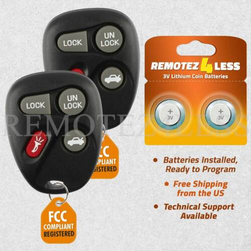 2 Replacement for Buick Chevy Oldsmobile Pontiac Entry Remote Car Key Fob 6215