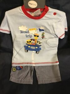 Baby-Boys-Toddlers-Spanish-Style-Shorts-T-Shirt-Set-100-Cotton-2-PCS-6-24-Mths