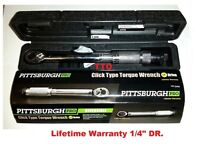 Pittsburgh Pro 1/4 In. Drive Reversible Click Type Torque Wrench