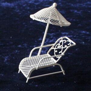 Das Bild Wird Geladen Minigarten Liege  Liegestuhl Mit Sonnenschirm Mini Garten Deko