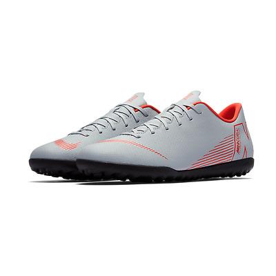 Scarpe calcetto uomo Nike Vapor 12 Club TF AH7386 060 grigio rossa | eBay