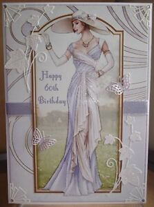 Image Is Loading ART DECO PERSONALISED HANDMADE 60TH BIRTHDAY CARD A