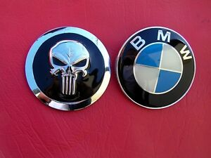 Punisher Fits Bmw Hood Replacement Car Emblem Metal Badge Bmw Logo Not Included Ebay
