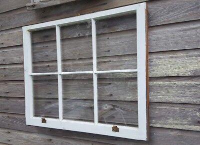 VINTAGE SASH ANTIQUE WOOD WINDOW PICTURE FRAME PINTEREST WEDDING  36x28 NO GLASS