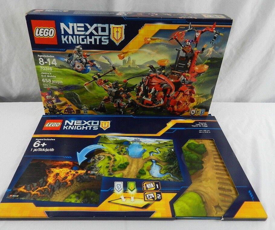Nuevo Lego Lote jestro's Evil nexo Caballeros móvil 70613 con 2 Lados Diseño Alfombra