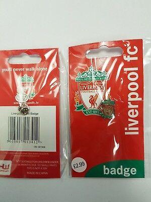 Confezione Da 10 Liverpool Fc Ufficiale Calcio Liverbird Cresta Pin Badge-
