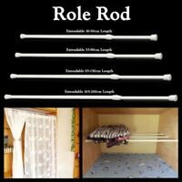 Spring Loaded Extendable Telescopic Net Voile Tension Curtain Rail Pole Rods