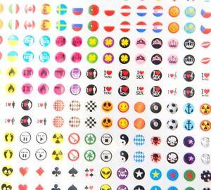 308-Sticker-Aufkleber-Set-Selbstklebend-8mm-zum-Basteln-Scrapbook-fuer-Cabochon