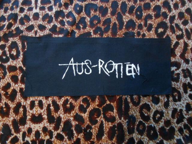 AUS ROTTEN DIY PATCH/hardcore/punk/anarcho/behind enemy lines/caustic christ/kbd