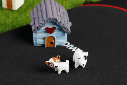 Mini 5pcs Puppy Miniatures Garden Yard Lawn Ornament Decoration Figurine DIY
