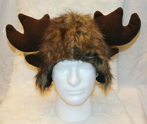 Details about funky MOOSE HAT antlers last one every - furries MONSTER  halloween costume ADULT