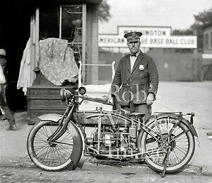 Henderson Motorcycle Photo Police Washington American League Baseball 8X10