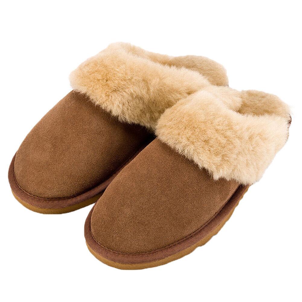 Lambland Ladies Genuine Sheepskin Lined Mule Slip On Slippers Size UK3 to UK8