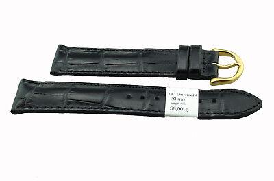 Uhren & Schmuck Uhrenarmbänder Maurice Lacroix Uhrenband Kroko Print 20 Mm Schwarz Dornschliesse Goldfarben Senility VerzöGern