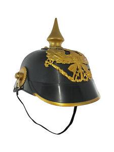 Deluxe Plastic Pickelhaube Spiked Officer Helmet Costume