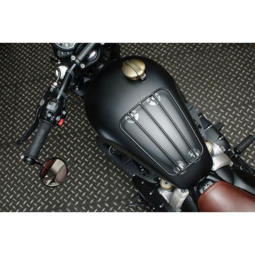 Motorrad Tank Gepäckträger schwarz 4 Saugnäpfe für Harley BMW Kawasaki uvm